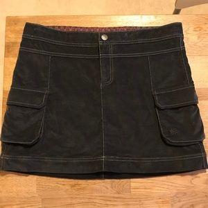 Athleta Charcoal Mini Skirt Pockets Micro Corduroy